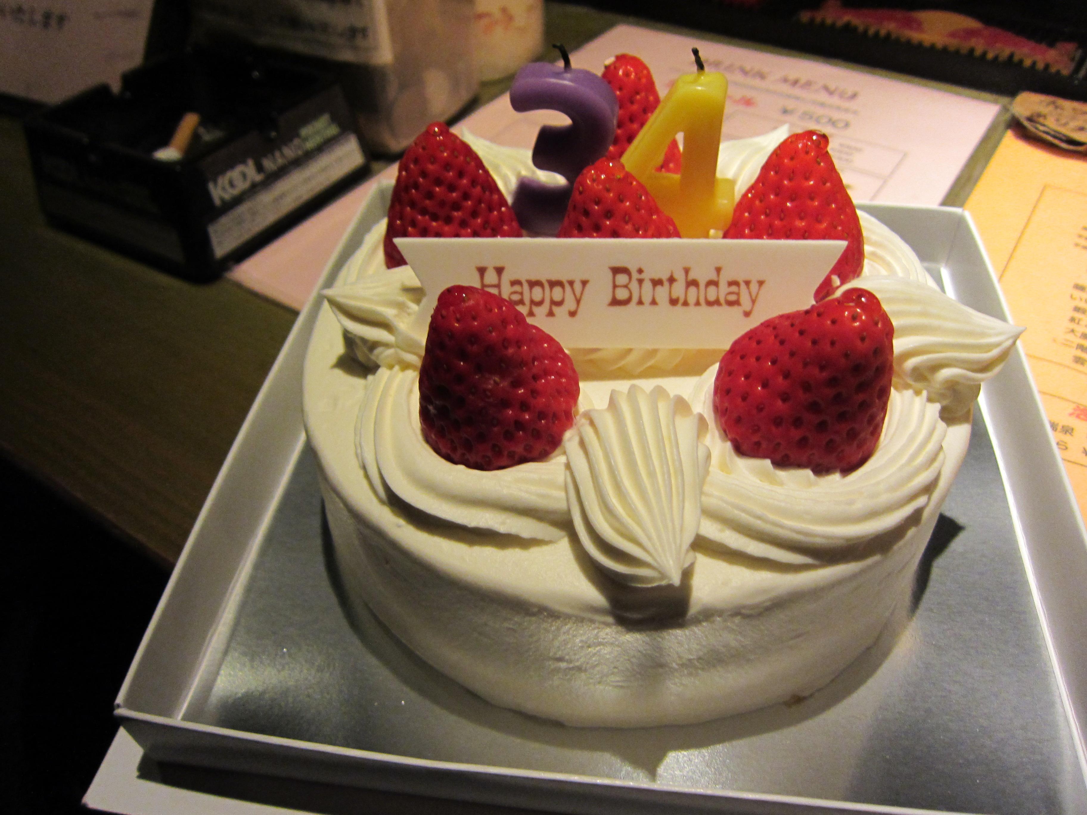 内野さんの誕生日ケーキ43歳