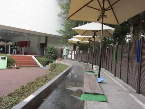 園山恭平 彫刻の森美術館にて 足湯