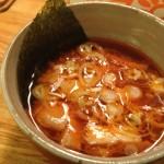やすべえ(つけ麺屋秋葉原店)に行きました。辛味つけ麺大盛りを注文。おいしい
