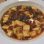 万豚記(ワンツーチー)イオン板橋店舗で麻婆豆腐定食を。メニューは担々麺も