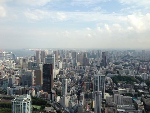 東京タワーの見晴らし