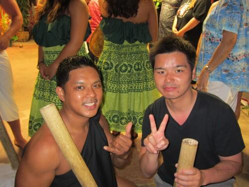園山恭平2012ワイハにて ダンサーと