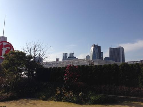 伊勢丹屋上庭園景色