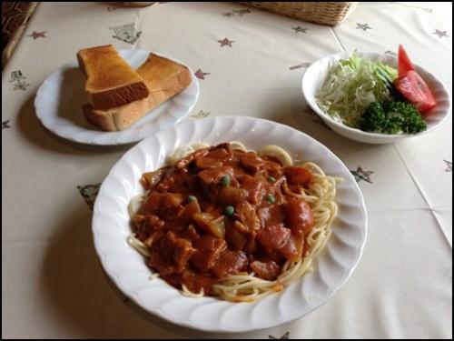 カレースパゲティセット