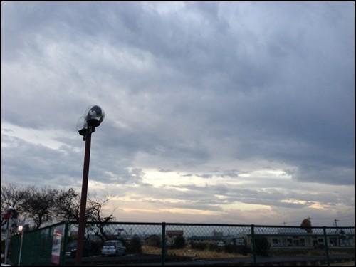 曇りの空模様