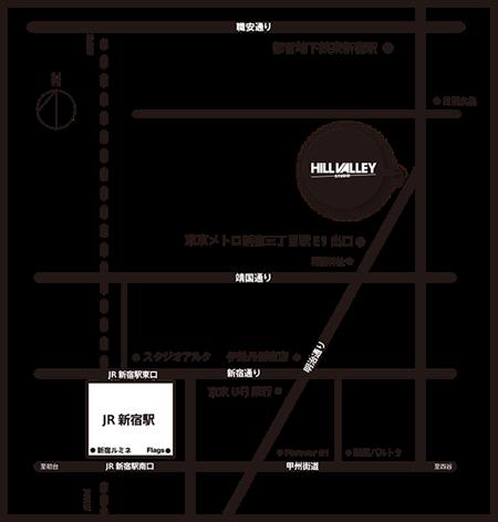 ヒルバレースタジオマップ