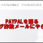 PAYPAL(ペイパル)で危険な不正フィッシング詐欺にあいました